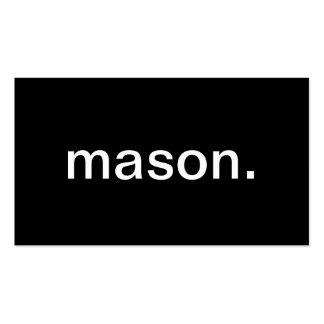 Mason Business Cards