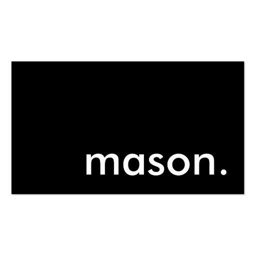 mason. business card templates