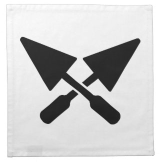 Mason crossed trowel cloth napkin