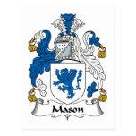 Mason Family Crest Post Cards
