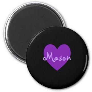 Mason in Purple Fridge Magnets