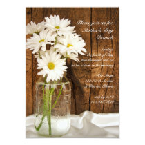 Mason Jar and Daisies Country Mother's Day Brunch Card