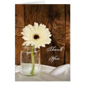 Mason Jar and Daisy Country Bridesmaid Thank You Card