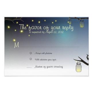 Mason Jar and Fireflies at Dusk RSVP Announcements