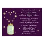 Mason Jar and Fireflies Heart Wedding Invitation