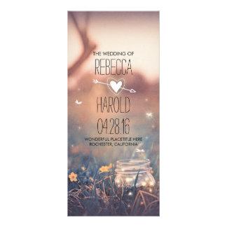 mason jar and fireflies rustic wedding programs