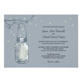 Mason Jar and Fireflies Wedding Invitations 5