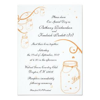 Mason Jar and Firefly Wedding Invitation - Poppy