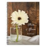 Mason Jar and White Daisy Country Wedding Notebook