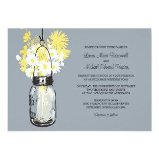 Mason Jar and Wildflowers Wedding Invitations