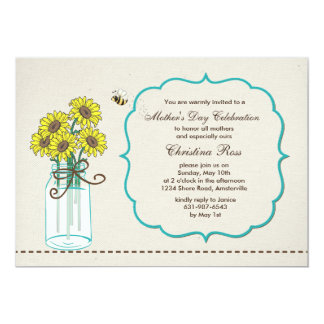 Mason Jar Arrangement Mother's Day Invitation