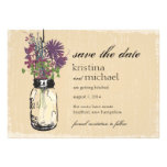 Mason Jar & Autumn Wildflowers Save the Date Personalized Announcements