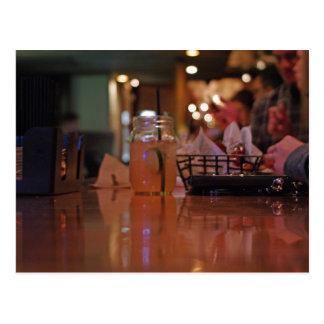 Mason Jar Bar Postcard