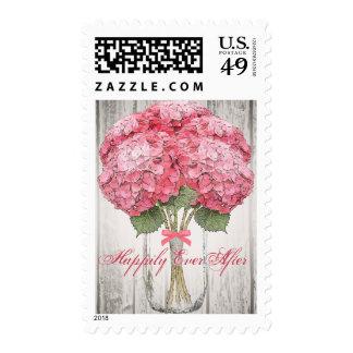 Mason Jar Barn Wood Wedding Stamps