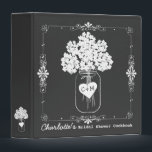 """Mason Jar Bridal Shower Cookbook Recipe Binder<br><div class=""""desc"""">A lovely keepsake for the bride to be - a recipe book full of favorite dishes from her Bridesmaids, Maid of Honor, or Mother. Personalize all the text on the front and back to make it a unique gift for the special bride. This one features an original illustration of a...</div>"""