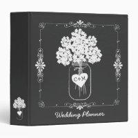 Mason Jar Bride's Wedding Planner Binder