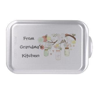 Mason Jar Cake Pan with From Grandma's Kitchen