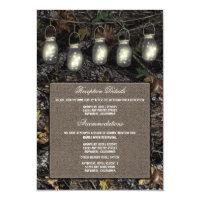 Mason Jar Camo Wedding Reception Enclosure Cards (<em>$1.75</em>)