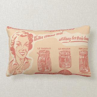 Mason Jar Canning Expert Vintage Advertisement Lumbar Pillow