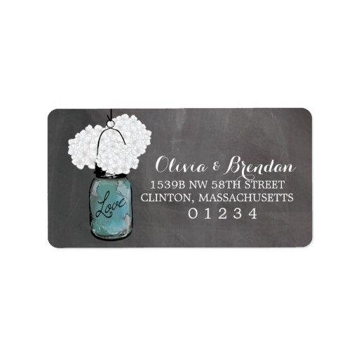 Mason Jar Chalkboard | Address Custom Address Labels