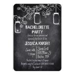 Mason Jar Chalkboard Bachelorette Party Custom Invite