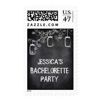 Mason Jar Chalkboard Bachelorette Party Postage