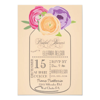 Mason Jar Chalkboard Bridal Shower Invitation