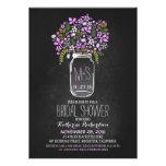 mason jar chalkboard bridal shower invitation