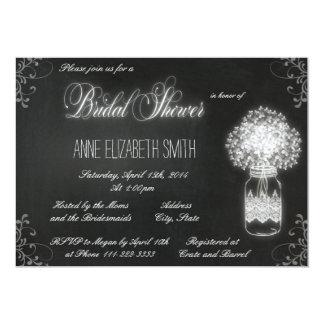 Mason Jar chalkboard Bridal Shower Invitation II