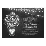 mason jar chalkboard & lights bridal shower card
