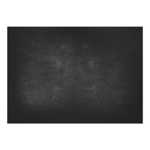 mason jar chalkboard & lights engagement party personalized invites (back side)