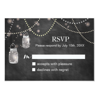 Mason Jar Chalkboard RSVP Cards