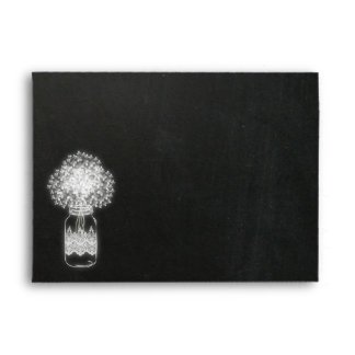 Mason Jar chalkboard Rustic envelope III