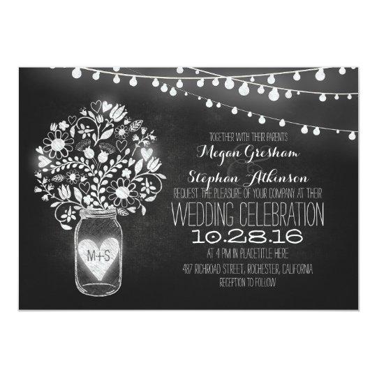 mason jar wedding invitations & announcements | zazzle, Baby shower invitations