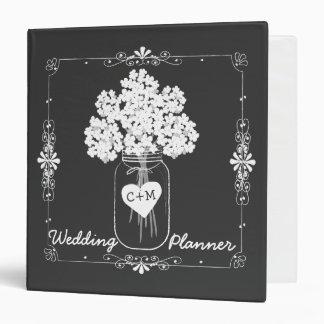 Mason Jar Chalkboard Wedding Planner Binder