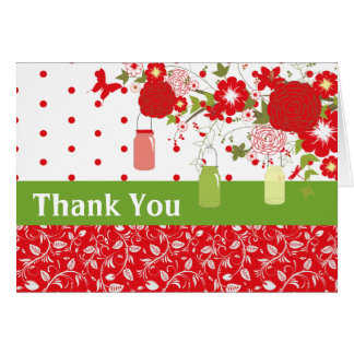 Mason Jar Christmas Thank You Card