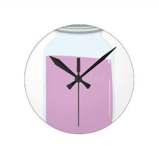 Mason Jar Round Clocks