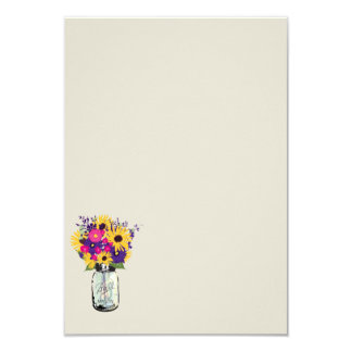 Mason Jar Daisies and Sunflowers | Escort Card