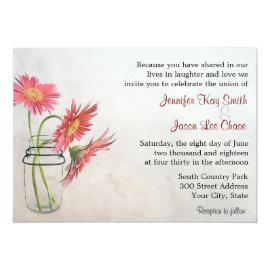 Mason Jar Daisies Wedding Invitations 5