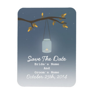 Mason Jar Evening Fall Save The Date Magnet