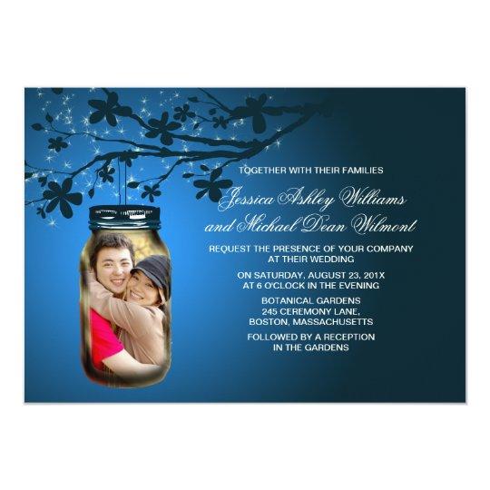Mason Jar Evening Outdoor Wedding Card