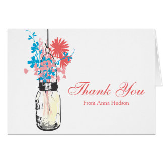 Mason Jar filled with Wilflowers Card