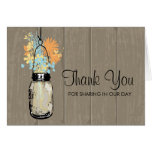 Mason Jar filled with Wilflowers Greeting Card