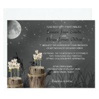 Mason Jar Fireflies Chalkboard, Wedding Invitation