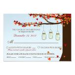 Mason Jar Fireflies Oak Tree Day RSVP (Meal) 3.5x5 Paper Invitation Card