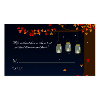 Mason Jar Fireflies Oak Tree Name Cards Double-Sided Standard Business Cards (Pack Of 100)