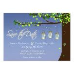 Mason Jar Fireflies Oak Tree Save the Date Custom Invite