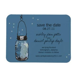 Mason Jar & Fireflies Save the Date Magnet