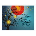 Mason Jar & Fireflies Save the Date Postcard B