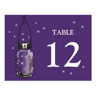 Mason Jar & Fireflies Table Card